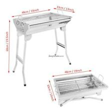 portable new foldable stainless steel barbecue charcoal grill bbq us ship - Stainless Steel Charcoal Grill