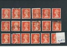 GB - WHOLESALE - MACHIN DEFINITIVES - MA180. 22p ORANGE - 18  COPIES - USED