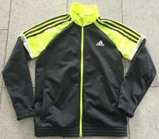 original adidas Sport Jacke Training Freizeit Junge Mädchen Gelb Anthrazit 164