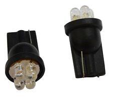 2 ampoules à 4 LED W5W 12V T10 lumière blanche effet Xénon  veilleuse plafonnier