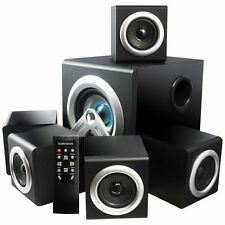sumvision v-cube 5.1 surround sound heimkino lautsprecher system 28w rms