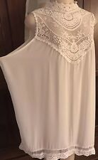 WOMENS PLUS DRESS 3X NEW IVORY LACE TUNIC TOP 22 24 XXXL NWT CUTE HOLIDAY DEAL