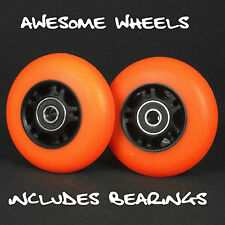 Ripstik Ripstick Skate Wheels x2 76mm Orange PU inc bearings