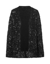 NEW ZARA 2013 BLACK BEADED LEATHER JACKET BLAZER COAT SIZE M FITS ALL SOLD OUT