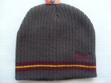 MARKER UNISEX Womans Mens GRAY Embroidered KNIT WINTER BEANIE HAT NWT