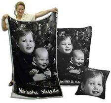 "Personalized Photo Throw Blanket Knitted to your Photo! 40""x60"""