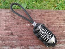Lanyard Schlüsselanhänger mit Fisch Anhänger für Taschenmesser aus Paracord