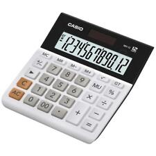 Casio Mh12/We Wide Calculator Extra Large 12 Digit Display Dual Powered - White