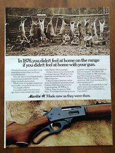 1973 Marlin 336 Deer Hunting Rifle Photo Hanging Deer Vintage Magazine Print Ad