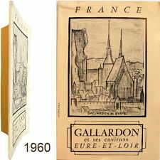 Gallardon et environs Tour Eglise maison de bois 1960 guide syndicat initiative