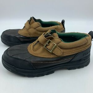 Polo by Ralph Lauren boys 5.5 shoes duck leather upper rubber soles water muck