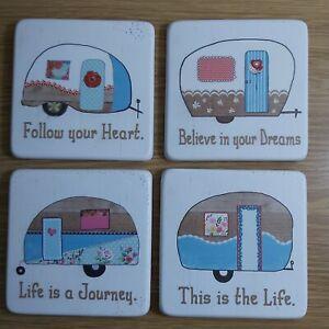 BNWT Resin Caravan Coasters - 4designs available