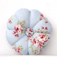Handmade Vintage Country Shabby Pumpkin Pin Cushion 09 with Laura Ashley Fabric
