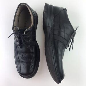 Clarks Oxfords Men's Black Lace Up Leather Dress Shoes Size 10 M