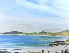 Scottish Landscape Beach Artwork Barra Outer Hebrides Scotland Blue, Green Art