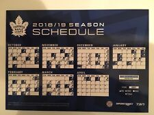 2018-19 TORONTO MAPLE LEAFS MAGNET MAGNETIC SCHEDULE