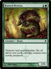 4x MTG: Rotted Hystrix - Green Common - New Phyrexia - NPH - Magic Card