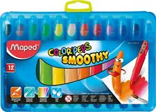 "Set 12 COLORI MAPED ""Peps Smoothy JUMBO GEL Pastelli Kids Acquerello"