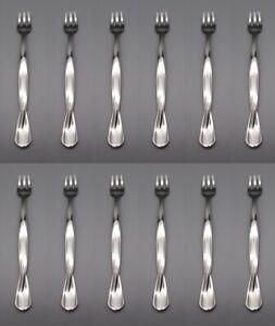 Oneida Stainless TORSADE Cocktail Forks - Set of Twelve USA