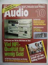 Audio 10/81, Thorens TD 126,, Koshin LUSTRE GST 801, DENON DRA 600, Sony STR V 55,