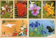 Singapore 2006, Singapore-Japan Joint Issue: Flower, Complete 6V