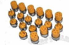 20-pc Male & Female Extension Cord Replacement Electrical Plugs 15AMP 125V End