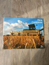 Vintage John Deere Sale Brochure Rice Combines