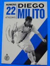 CARTOLINA UFFICIALE INTER 2011/12 - DIEGO MILITO - PC 10250 - cm. 10,5X14,8