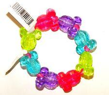 Disney park flat children adult mickey ear heads bracelet neon stretch plastic