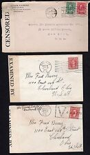 CANADA 1916 & 1941 THREE WAR TIME COVERS ALL CENSORED ONE WITH VICTORY CANCEL