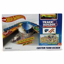 Hot Wheels Track Builder System Adjustable Custom Turn Kicker Playset & Car