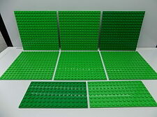 Lego 8 pc. Studded Base Plate,s Lot Green {WASHED}