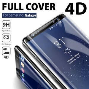 Galaxy Note 10 9 8  S10 5G S9 S8 Plus 4D Tempered Glass Screen Protector Samsung