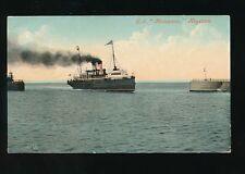Shipping IOM Isle of Man Steam Packet Co SS MANXMAN  at Heysham c1900/20s? PPC