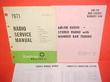 1971 CADILLAC LIMO CHRYSLER IMPERIAL DELCO WONDER BAR AM-FM RADIO SERVICE MANUAL