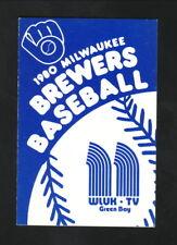 Milwaukee Brewers--1980 Pocket Schedule--WLVK