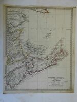 Nova Scotia Prince Edward Island Canada Sable 1832 SDUK detailed antique map