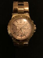 Michael Kors Lexington Rose Gold Chronograph 38mm Ladies Watch MK5314 USED