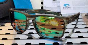 New Costa del Mar SPEARO SPO 253 Sunglasses Matte Reef w/ Green 580p Polarized