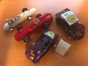 Vintage Eldon 1/32 Slot Car 1960s Bodies & chassis  Used condition Missing pcs