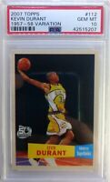 2007 07-08 TOPPS 50th Anniversary Kevin Durant Rookie RC #112, Graded PSA 10