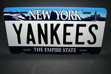 YANKEES NEW YORK STATE BACKGROUND METAL ALUMINUM CAR LICENSE PLATE TAG