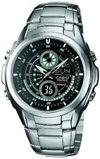 New CASIO Analog Watch Silver/Black EFA-116D-1A1JF Standard Men's From JAPAN