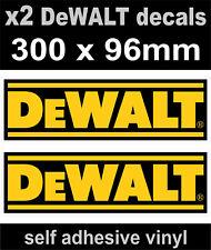 2 DeWALT tools sponsor stickers 300mm motorsport decals car van truck workshop
