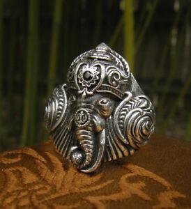Ein Prachtstück! Ganesha HERREN & Damen RING 925er Silber aus NEPAL bis Gr.67