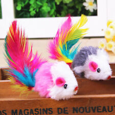 1-5Pcs Plush Toys False Mouse Mice For Pet Cat Kitten Catch Playing Fun Toys