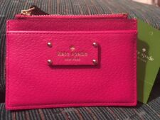Kate Spade Leather Coin Card ID Case Zip Adi Grove Street WLRU2811 swthrtpink