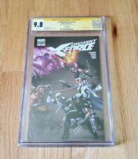 Uncanny X-Force #11 CGC 9.8 SS Mark Brooks Signed 1:25 Wraparound Variant 2011
