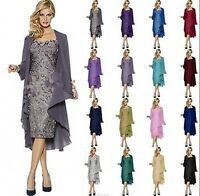Lace Short Wedding Party Formal Dresses Free Jacket Mother of the Bride Outfits