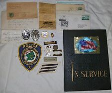 Grouping Lot of OBSOLETE Police Fire Badges Patches New Jersey PBA Pins